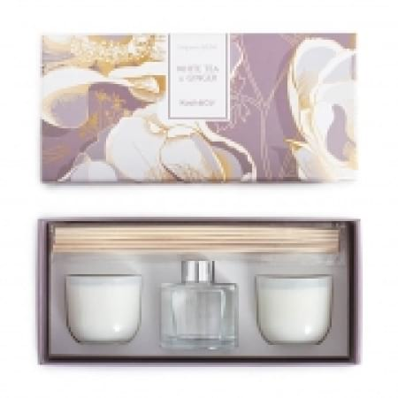 Candle & Diffuser Gift Set White Tea & Ginger
