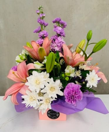 Mixed Pastel Box Arrangement