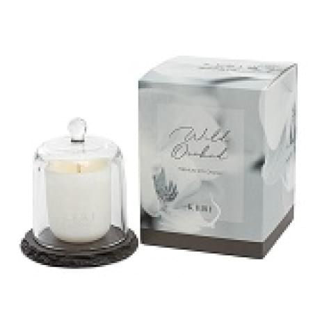 Wild Orchid Soy Candle Slate Cloche