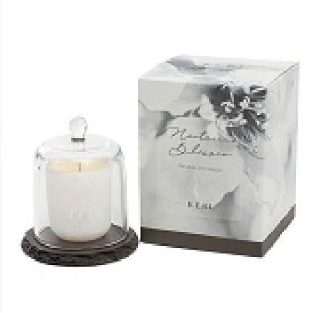 Nectarine Blossom Soy Candle Slate Cloche