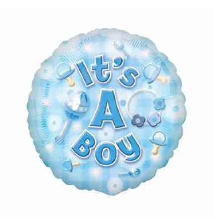 Balloon Foil it`s a Boy